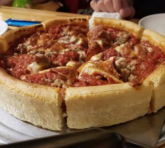 Deep Dish Chicago Style Meat Lovers Pizza